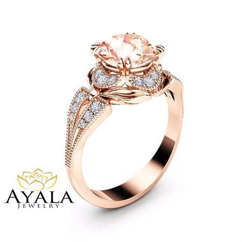 morganite engagement ring unique 14k gold ring deco morganite ring ebay