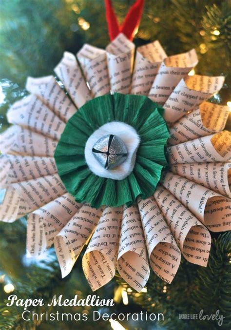simple christmas decorations paper medallion