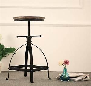 Tabouret Style Industriel : tabouret style industriel bois et fer noir d coindustriel ~ Teatrodelosmanantiales.com Idées de Décoration