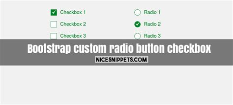 in bootstrap how to custom design radio button and checkbox