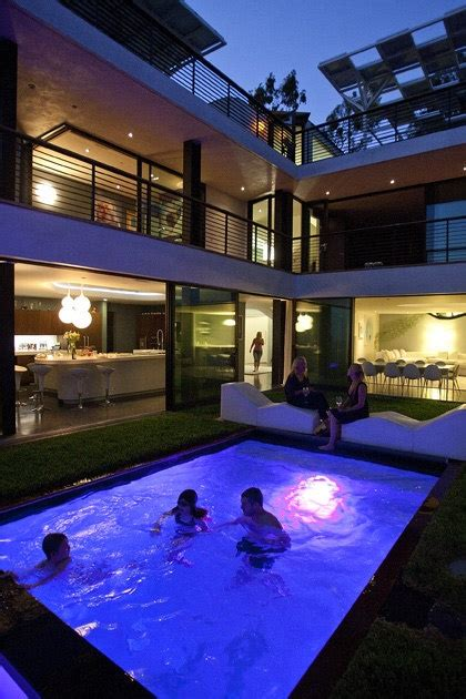 images   shaped house  pool  pinterest