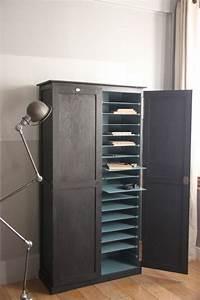 Meuble Pour Ranger Papier : meuble de rangement pour papier administratif table de lit ~ Teatrodelosmanantiales.com Idées de Décoration