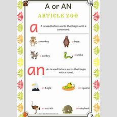 A Walk Through Articles Zoo  Using Articles A Or An  The Mum Educates