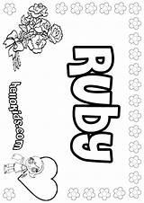Ruby Coloring Pages Print Name Pastel Copycat Printable Names Template Hellokids Designlooter Colorings Mames Getdrawings Getcolorings sketch template