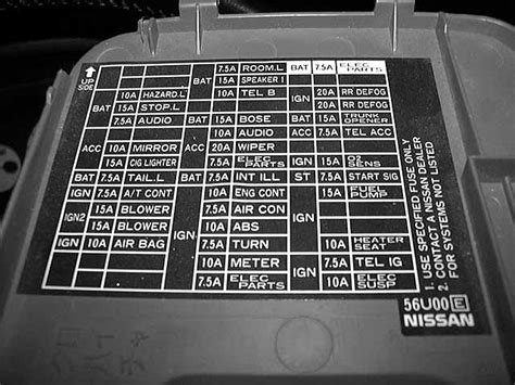 2006 Nissan Maxima Fuse Box Diagram by 8 Best Images Of 2006 Nissan Sentra Fuse Diagram 2004