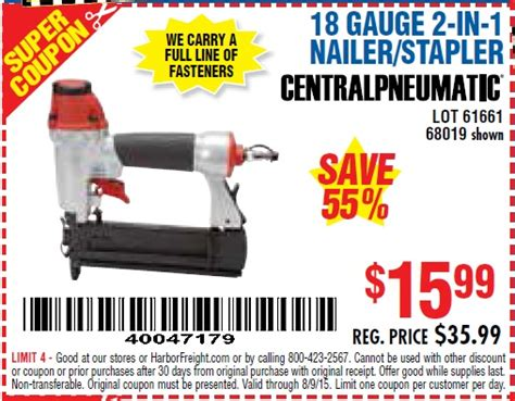 Harbor Freight Floor Nailer Spacer by Harbor Freight Tools Coupon Database Free Coupons 25