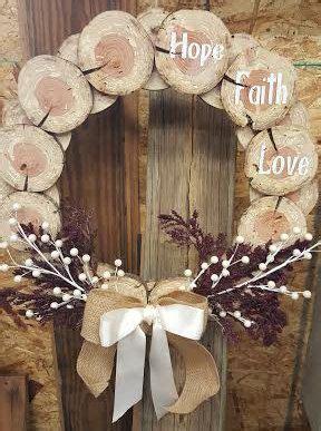 cedar disc wreath decoration  jlcraftsandwoodwork
