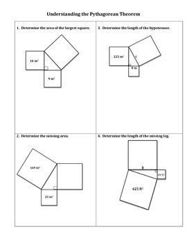 Understanding The Pythagorean Theorem Worksheet By No Frills Math