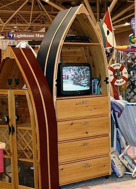 row boat dresser  tv stand beach house ideas