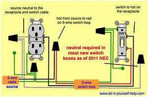 Wiring Diagrams For Outlet Switch And Light