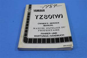Oem Yamaha Yz80 W  Owners Service Manual In French Pt  3mm
