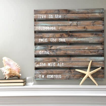 diy wood pallet decor ideas coastal decor ideas