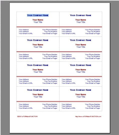 Free Business Card Templates For Word by 8 Free Business Cards Templates For Wordreport Template