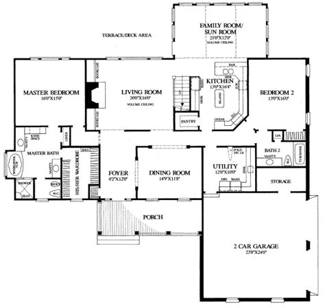 peninsula kitchen cabinets traditional style house plan 4 beds 3 baths 3783 sq ft 1456