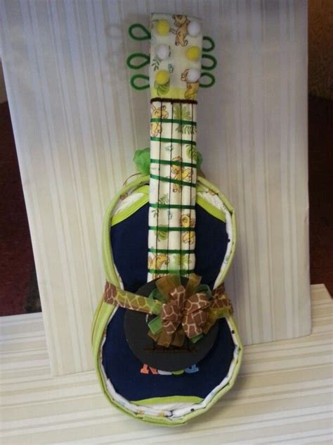 guitar diaper cakes ideas  pinterest unique