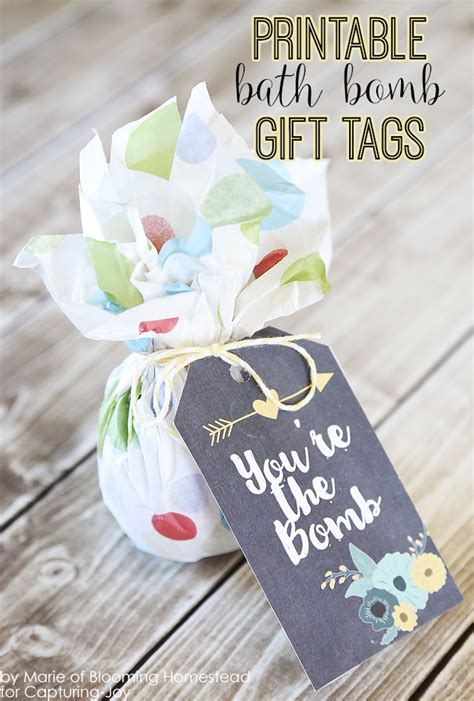 printable bath bomb gift tags capturing joy  kristen