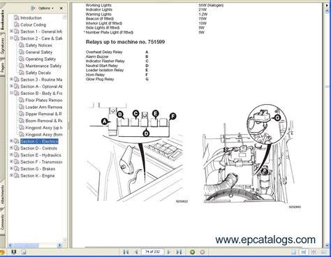 jcb excavators service manuals sa