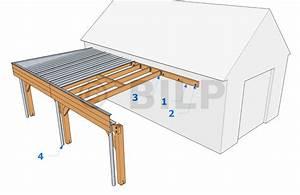 plan carport adosse 20171024150310 tiawukcom With maison toit plat bois 14 carport aluminium adosse talis 8 x 3 5 m direct abris