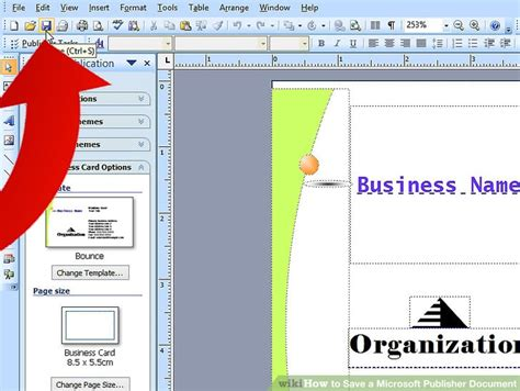 How To Save A Microsoft Publisher Document 4 Steps