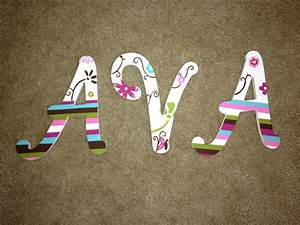 personalized hand painted wooden letters With hand painted wooden letters