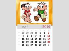 calendário turma da mônica Cantinho do Saber