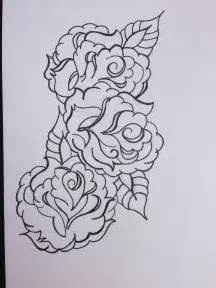 Black Rose Tattoo Outline Designs