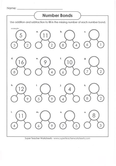 decomposing numbers kindergarten worksheets worksheets for