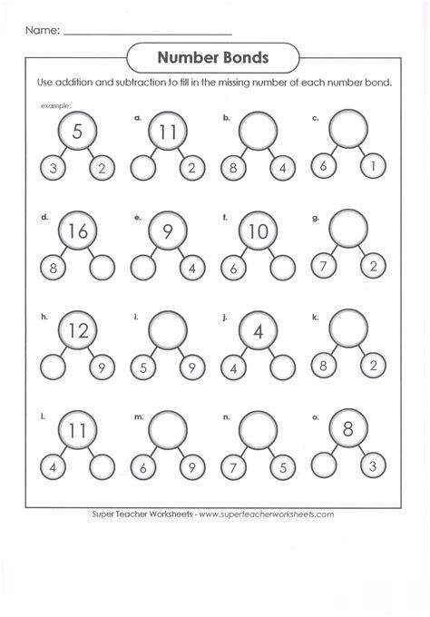 Number Bonds Worksheets For Kindergarten Worksheets For All  Download And Share Worksheets