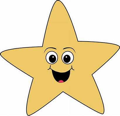 Star Face Clip Happy Smiley Clipart Faces