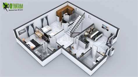 floor plan   story house  cut section view milan
