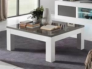 Table Basse Blanc Gris : table basse neos blanc gris blanc blanc gris l 100 x h 43 x p 100 ~ Teatrodelosmanantiales.com Idées de Décoration
