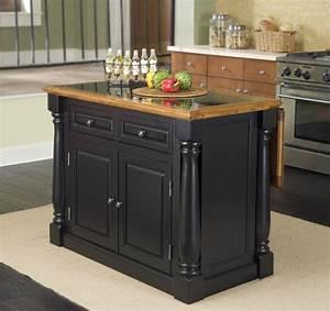 Granite Top Kitchen Island - House Furniture