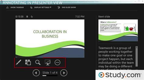 present  powerpoint slideshow annotations