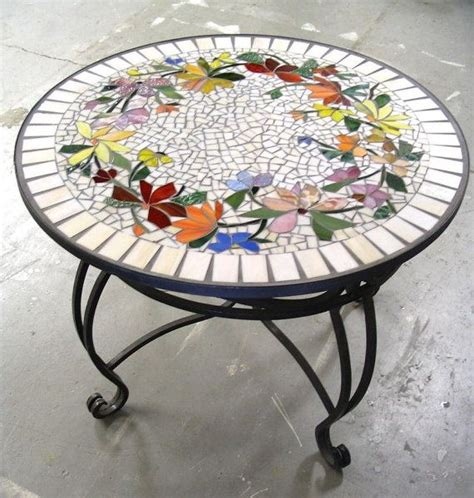 stained glass table ls mosaic table floral pattern custom stained glass inlaid