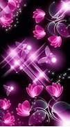 Pink and black flowers...