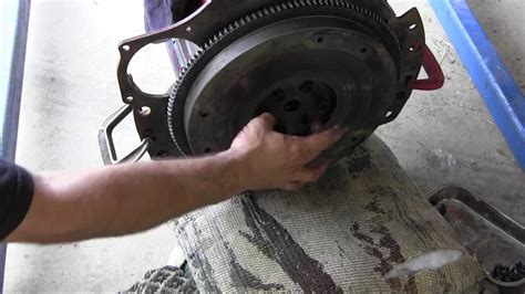 ford jubilee naa tractor engine rebuild part  flywheel