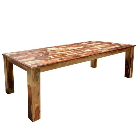 cariboo rustic solid wood large rectangular dining table