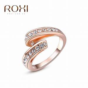 roxi brand pink gold wedding ring couple engagement ring With adjustable gold wedding rings