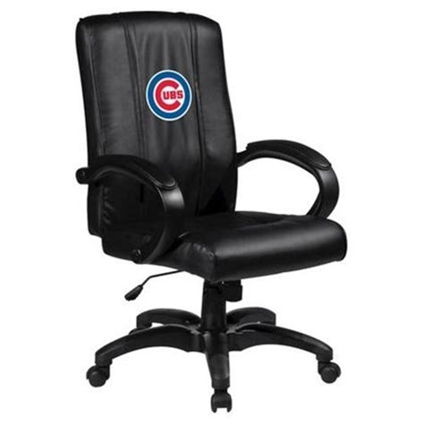 mlb home office chair with logo panel chicago cubs