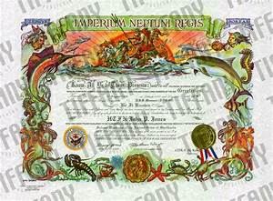 shellback certificate tiffany publishing With crossing the line certificate template