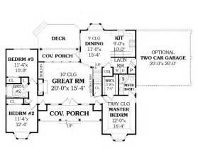 Ranch Floor Plan Affordable Ranch 4676 3 Bedrooms And 2 5 Baths The House Designers
