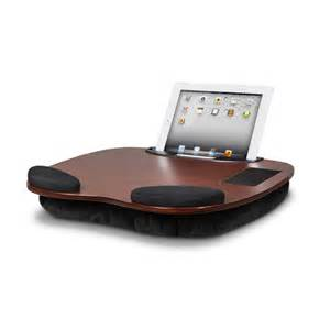 ipad tablet wooden lap desk with wrist pads smart media