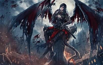 Demon Angel Dark Evil Fantasy Wallpapers Artwork