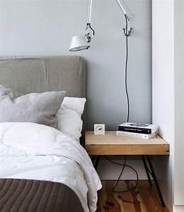 Lampe De Chevet Murale : chambre scandinave r ussie en 38 id es de d coration chic ~ Teatrodelosmanantiales.com Idées de Décoration