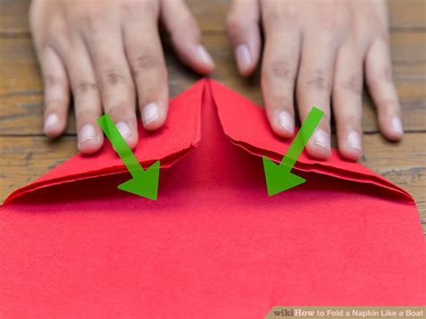 How To Make A Boat From A Napkin by 4 Ways To Fold A Napkin Like A Boat Wikihow