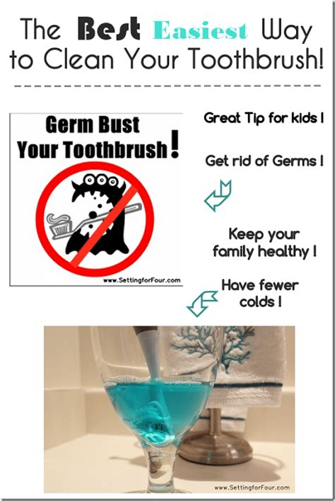 the best easiest way to clean your toothbrush cleaning