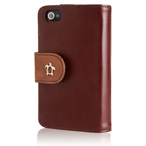 etui housse cuir iphone 4 s marron vintage fourreau portefeuille iphone 4