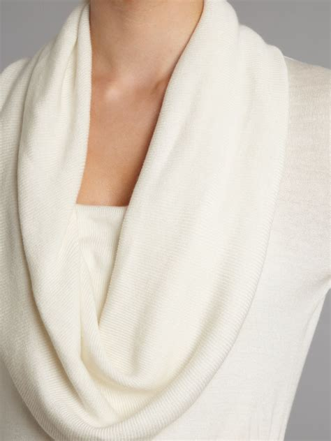 white cowl neck sweater michael michael kors silk and cowl neck sweater