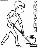 Curling Coloring Pages Olympics Winter Printable Colorings Coloringway sketch template