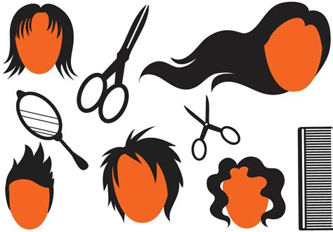 hairstyle vectors    vector art stock graphics images